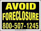 Avoid Foreclosure Signs